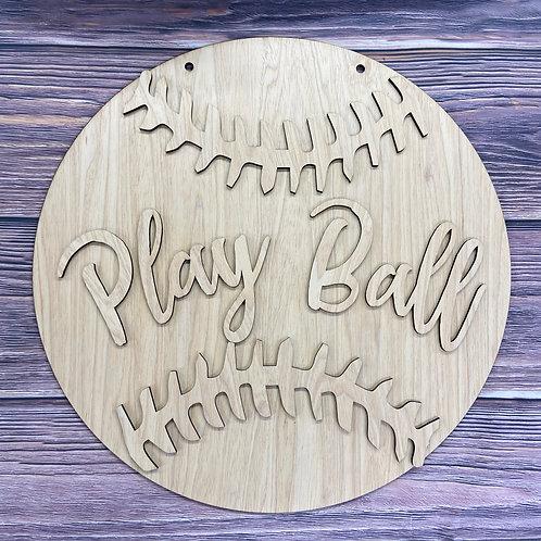 Baseball or Softball home decor