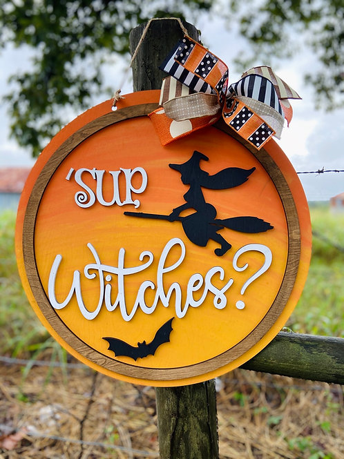 Sup Witches doorhanger