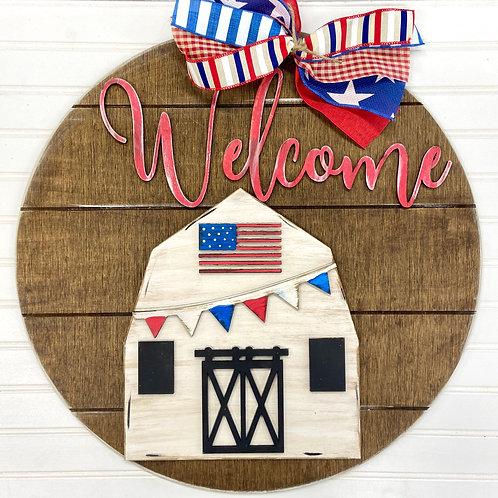 Unpainted welcome barn