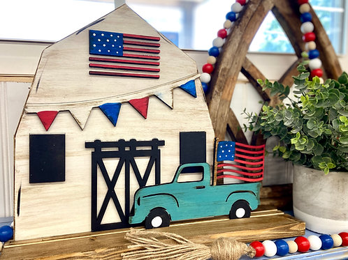 Wholsale Patriotic barn and truck leaner