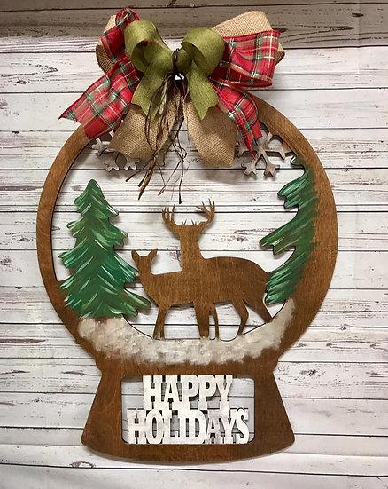 Christmas Deer Globe Design Home Decor