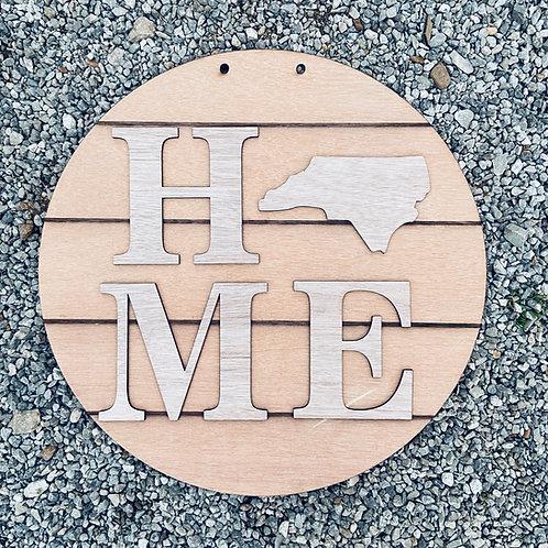 Home Doorhanger State Wooden Unpainted
