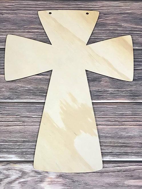 Unfinished Solid Cross Design