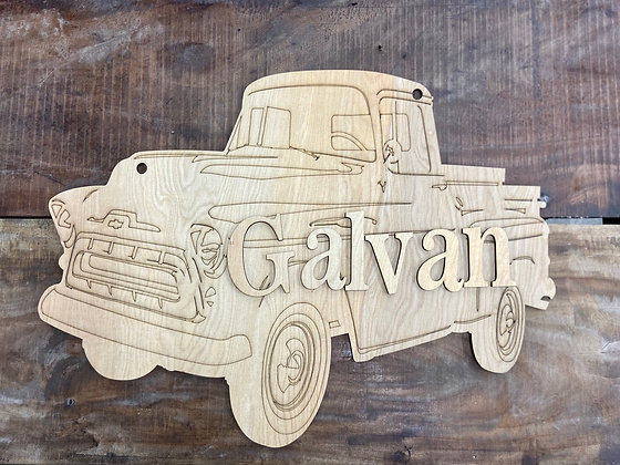 Vintage Truck with Name