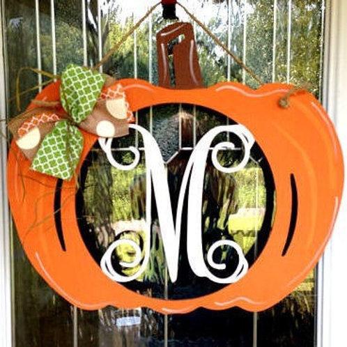 Pumpkin Monogram PAINTED