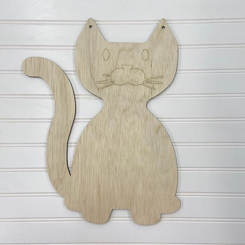 kids cat door hanger