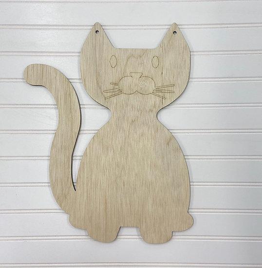 kids cat door hanger
