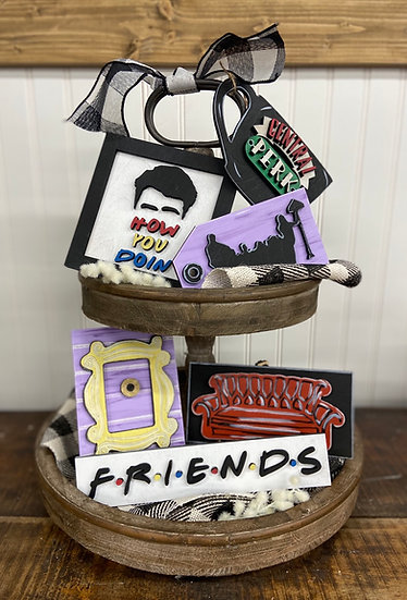 Unfinished Friends Tier Tray ( Tray not included)