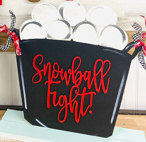 Snowball Stand Up Design unpainted
