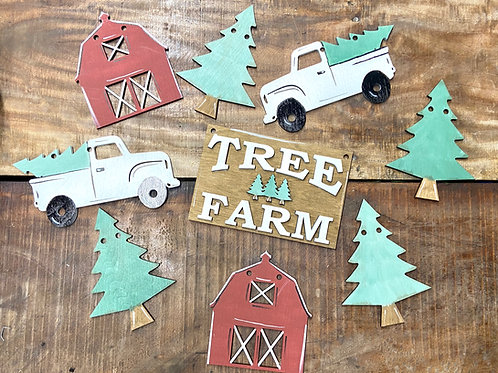 Tree farm banner