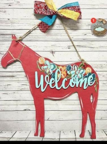 Horse Doorhanger