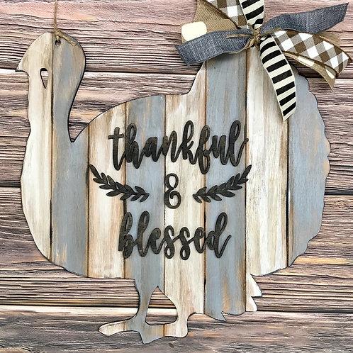 Wholesale Turkey Thankful/Blessed