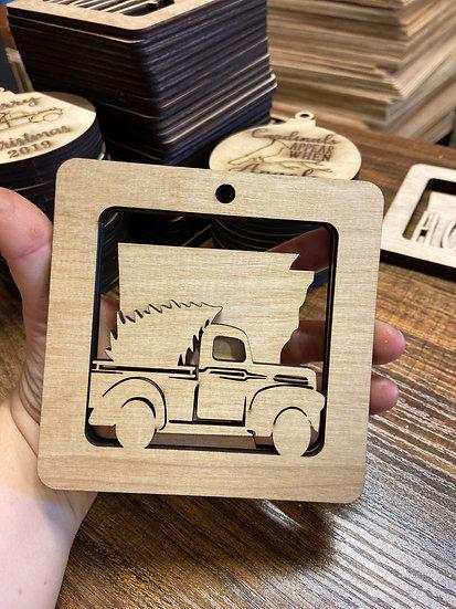 Truck State Ornament Dimensional