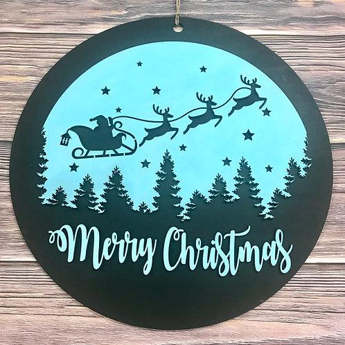 Merry Christmas home decor sign