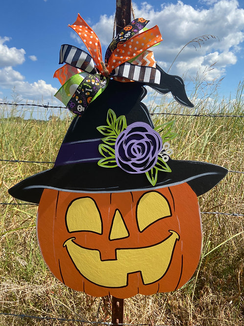 Jack o lantern witch hat