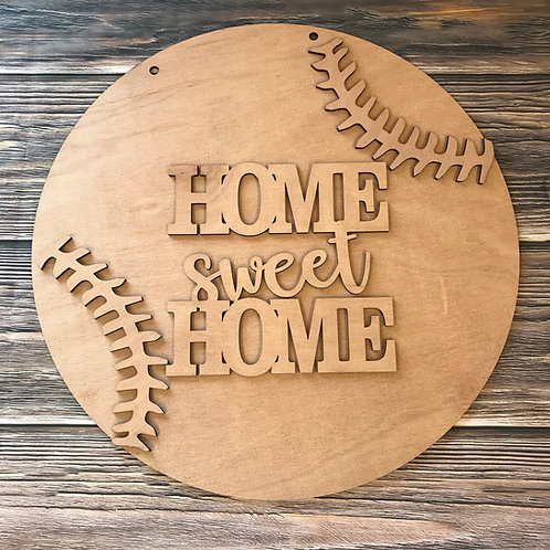 monogrammed home sweet home baseball home decor