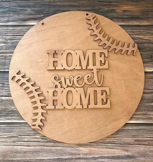 monogrammed home sweet home baseball home decor