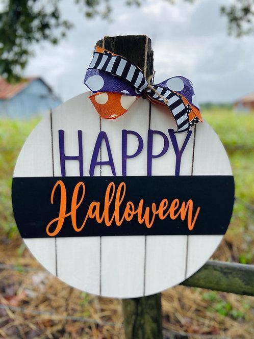 shiplap happy halloween doorhanger