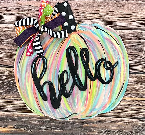 Pumpkin hello cutout