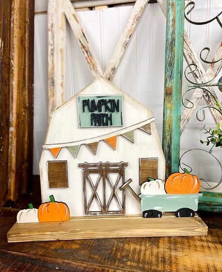 Unpainted Stand Up Fall Barn