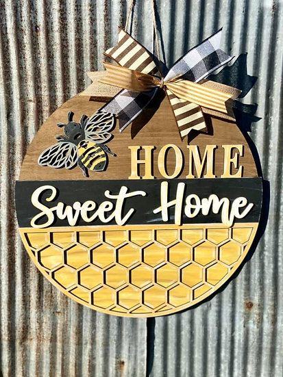 Painted Bee Home Sweet Home