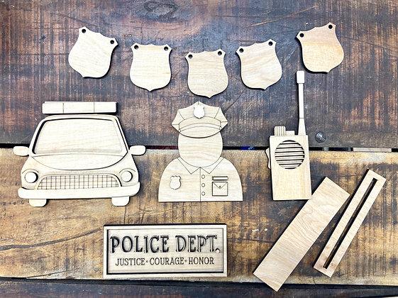 Police tier tray set