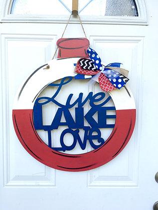 Live, lake, love bobber