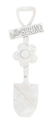 Floral Shovel Leaner