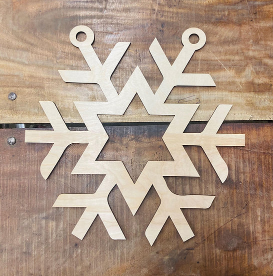 wooden snowflake for craft fairs
