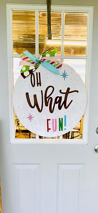 What fun door hanger