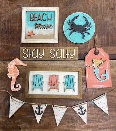 Unfinished Beach Tier Tray Bundle ( Tray Not Included)