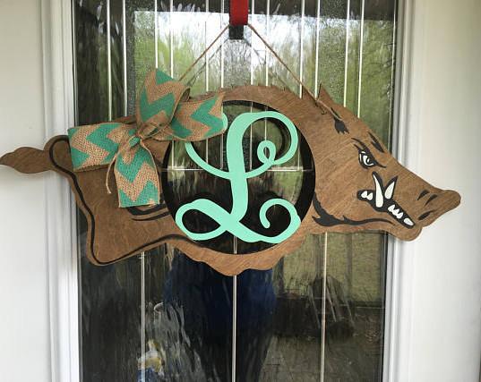 stained hog door hanger.jpg