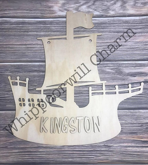 Pirate Ship Wooden Home Decor