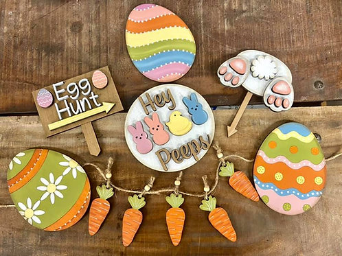 tier tray easter set paint yourself