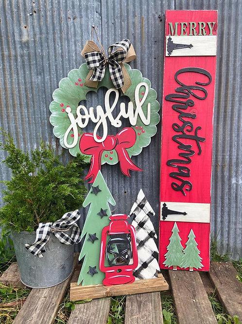 PAINTED Traditional Christmas Set