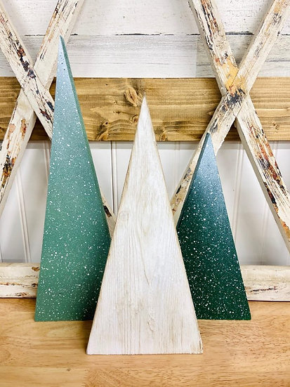 Wooden Home Decor Trees Holiday Theme