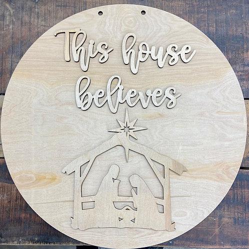 Do It Yourself Doorhanger This House Believes