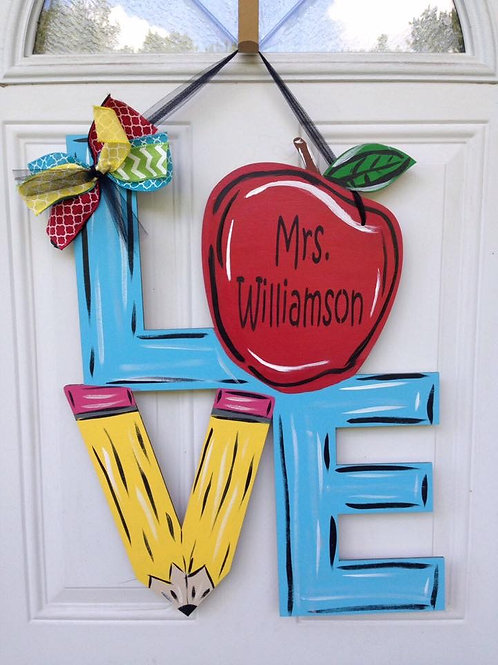 door hanger teacher classroom sign decor