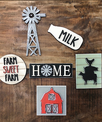 Unfinished Farmhouse Tier Tray Bundle (Tray not included)