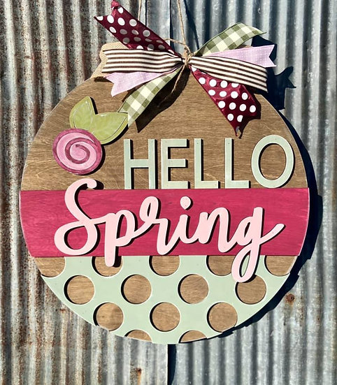 Painted Hello Spring