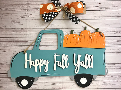 Wholesale Fall Truck with Pumpkins