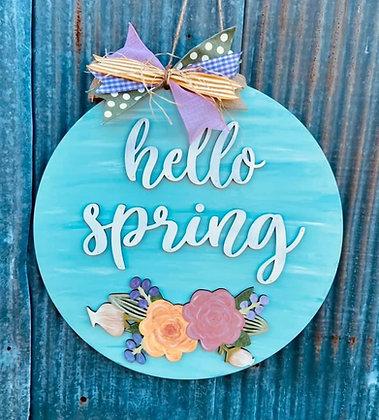 Hello Spring Doorhanger