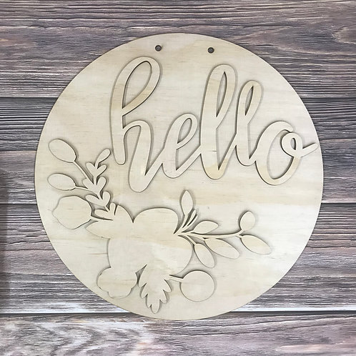 Hello Door Hanger Custom Spring