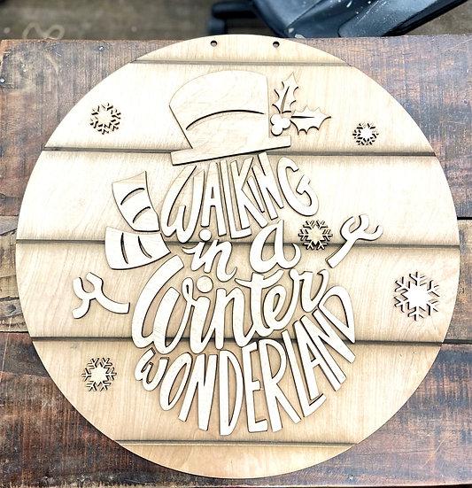 Winter Wonderland Doorhanger Sign