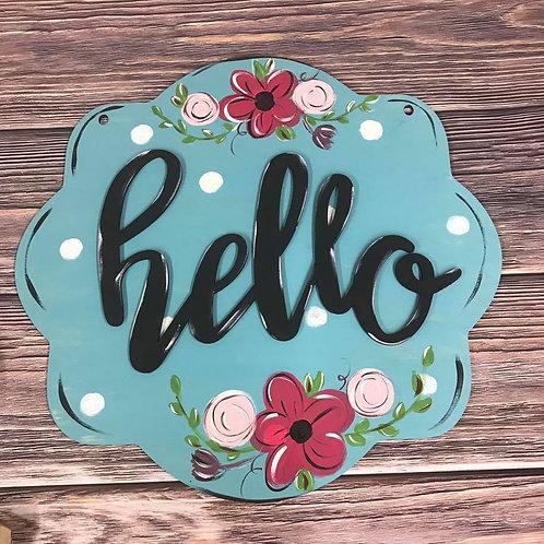 Wholesale Hello sign scalloped shape