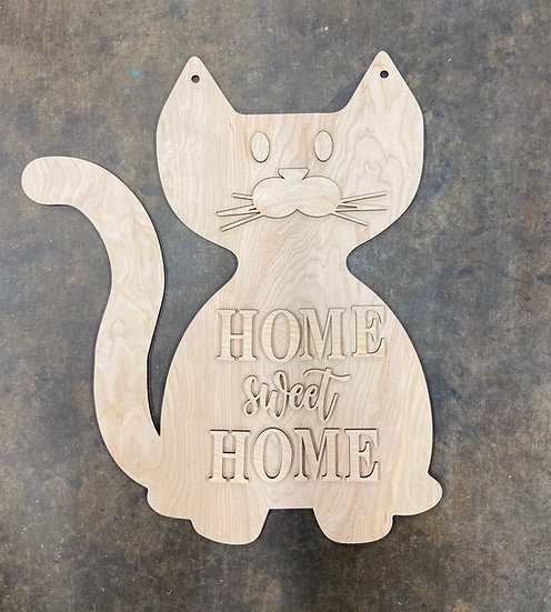 Cat Home Sweet Home