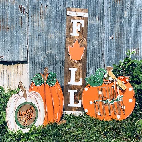 Painted Stand Up Pumpkin Set (ONLY PUMPKIN STANDUP)