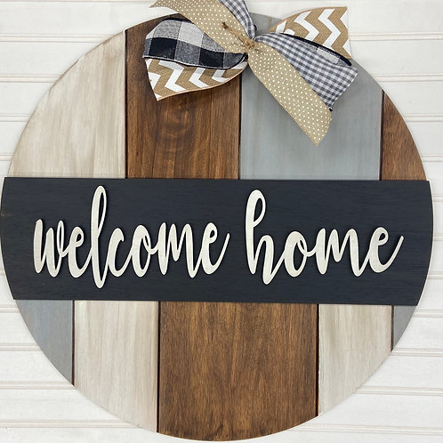 Painted reclaimed welcome home