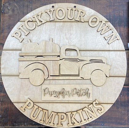 Pick your own pumpkins (unpainted)