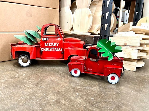 Christmas Metal Truck Large